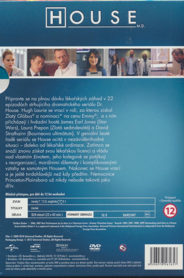 Dr. House 6. série / House M.D. - 6 DVD, 22 epizod - suprshop.cz
