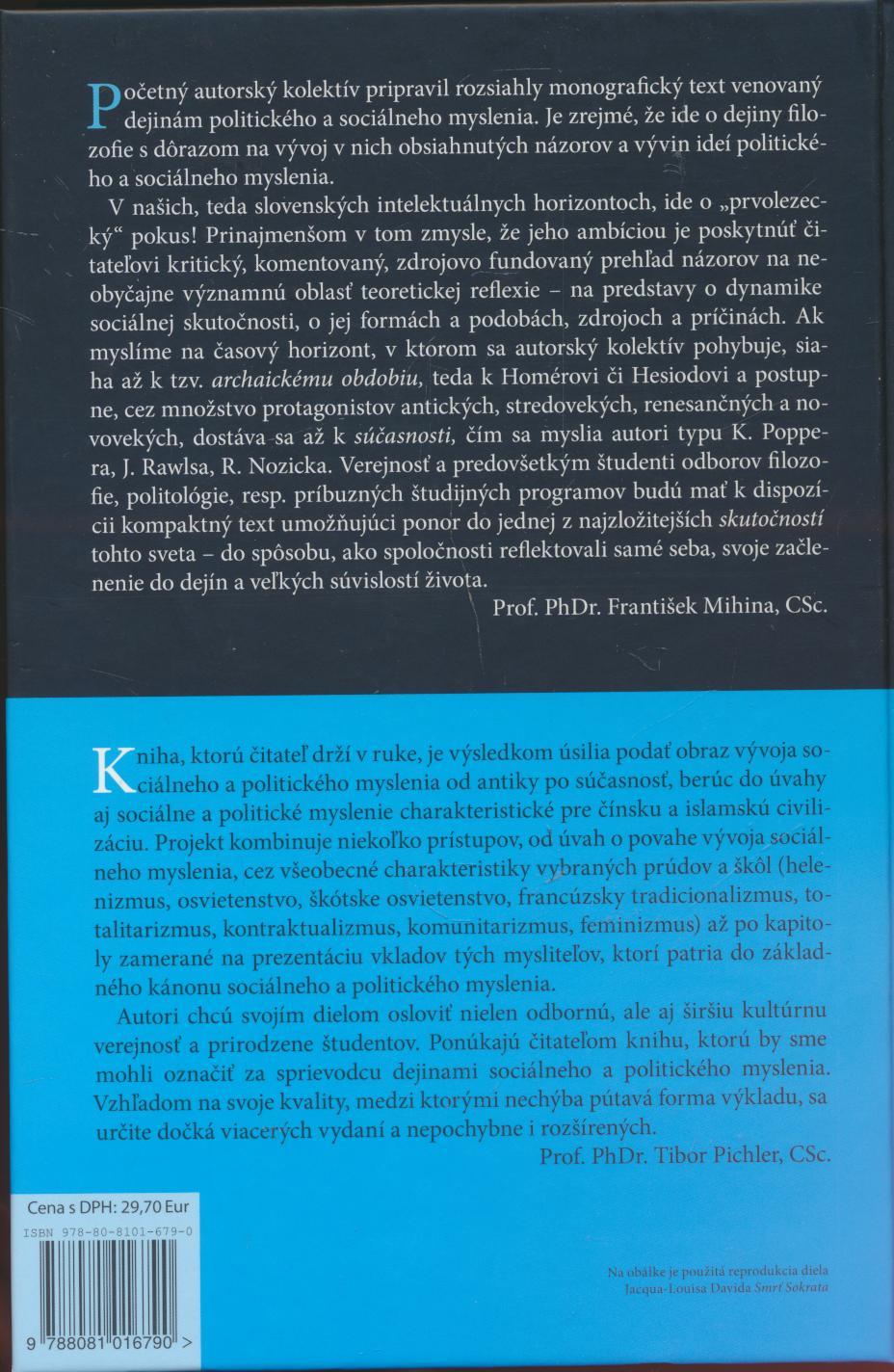 Dejiny sociálneho a politického myslenia - supershop.sk