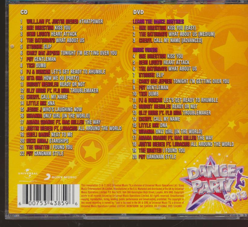 DANCE PARTY 2013 -CD+DVD- - supershop.sk