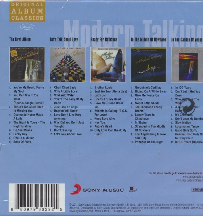 ORIGINAL ALBUM CLASSICS - supermusic.sk