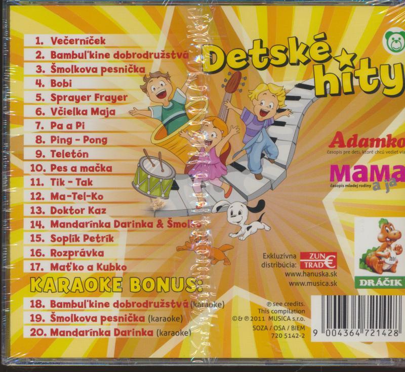 PESNICKY PRE DETI - DETSKE HITY - supermusic.sk
