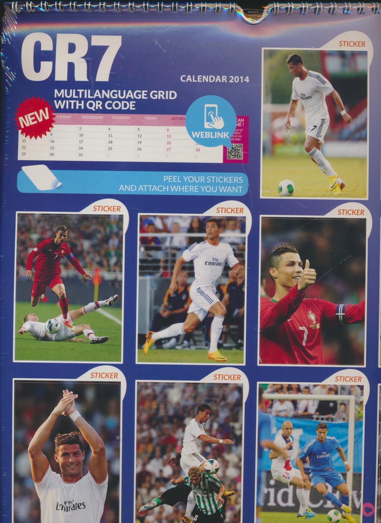 Kal Cristiano Ronaldo - KalendÁŘ 2014 fotbal(297 X 420mm) A3 ... 613ce374d57