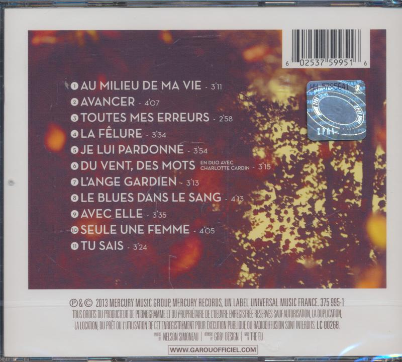 Au milieu de ma vie - Instrumental MP3 Karaoke - Garou