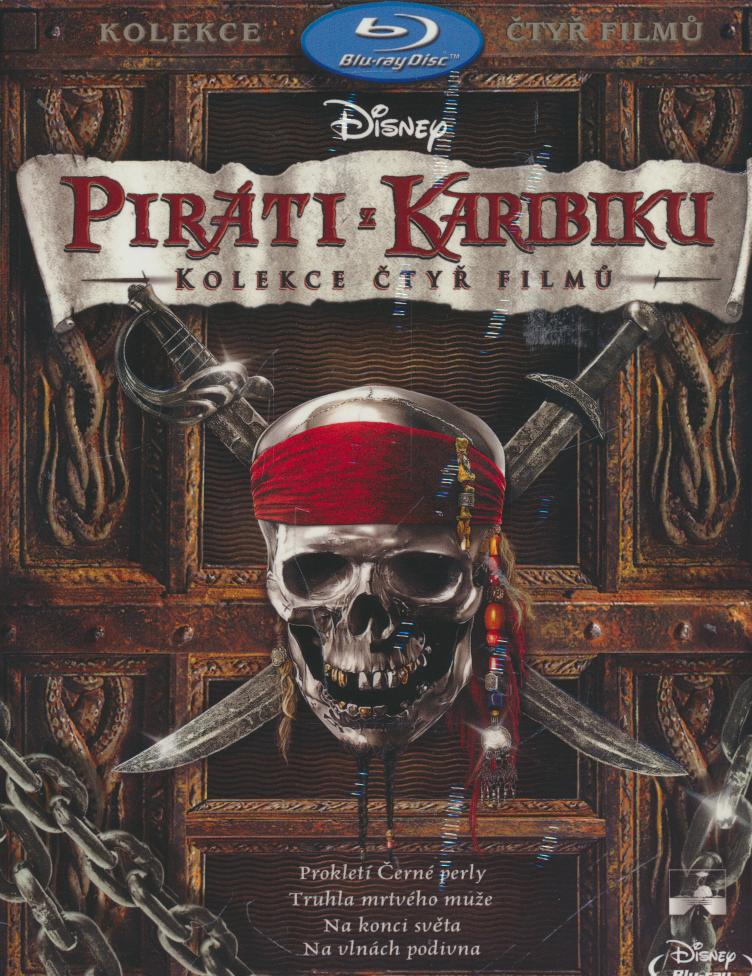Piráti z Karibiku 1-4. BD [CZ dabing] [BLURAY] - suprshop.cz