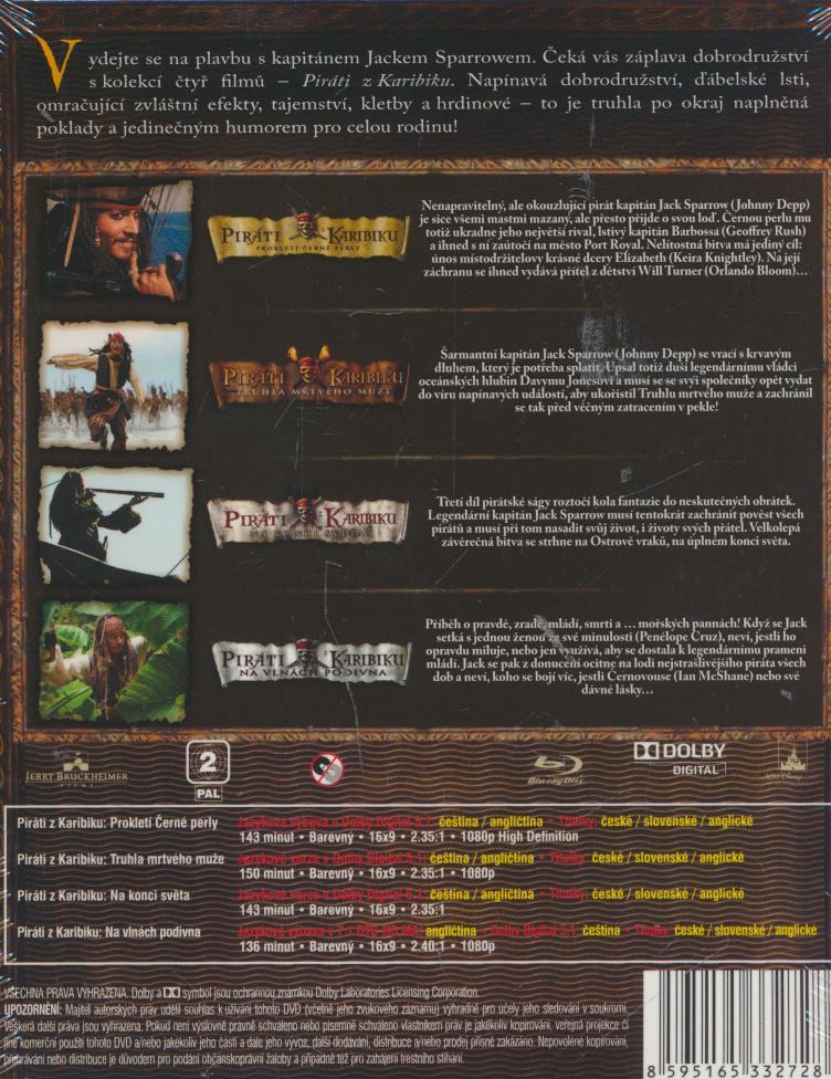 Piráti z Karibiku 1-4. BD [BLURAY] - suprshop.cz