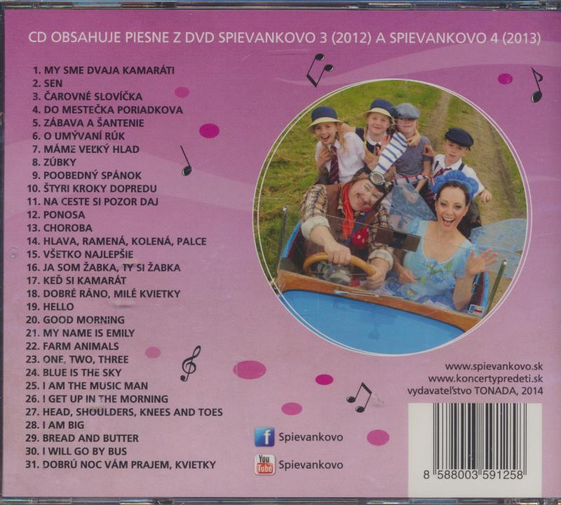 Cd Podhradska   Canaky - Piesne Z Dvd Spievankovo 3 A 4 ☆ SUPRSHOP ... 96583893820