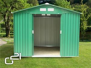 Zahradní domek G21 GAH 730 - 251 x 291 cm, zelený - suprshop.cz