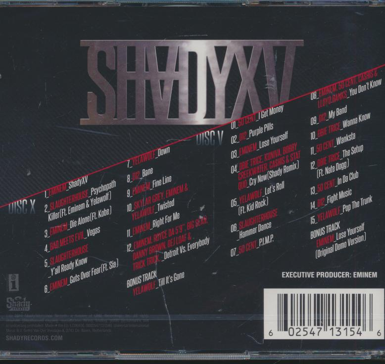 SHADY XV - 2CD COMPILATION DISC - supershop.sk