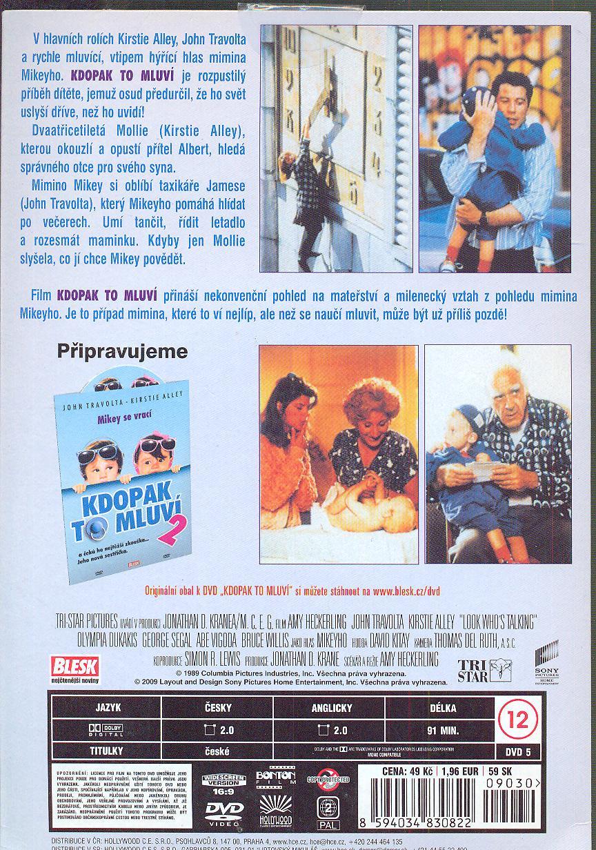 Kdopak to mluví 1 (Look Who´s Talking) DVD - suprshop.cz