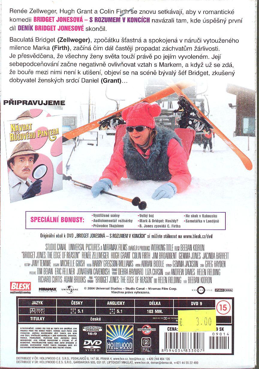 Bridget Jonesová - S rozumem v koncích (Bridget Jones: The Edge of Reason) DVD - suprshop.cz