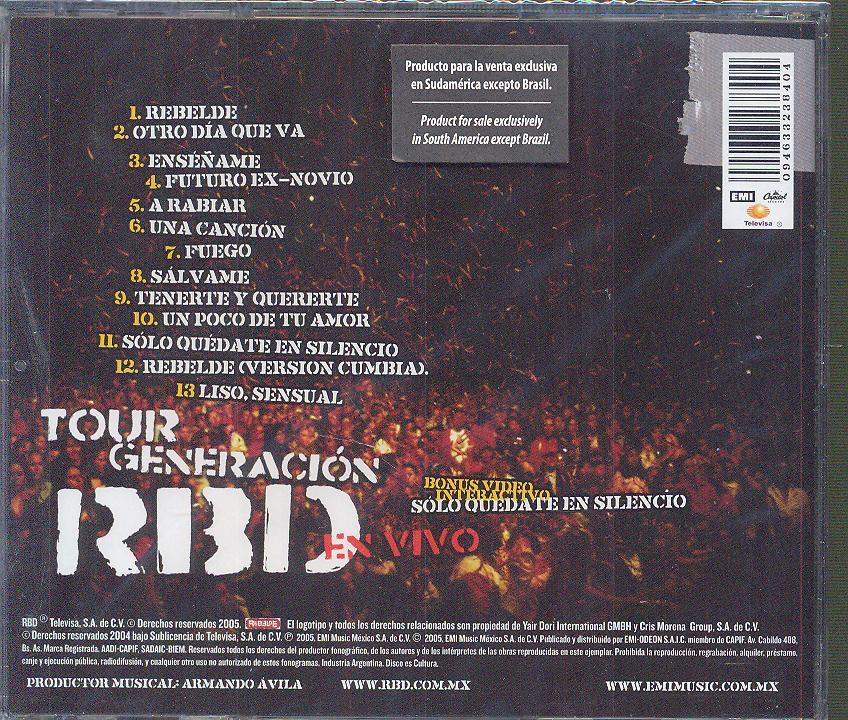 RBD - TOUR GENERATION RBD -..