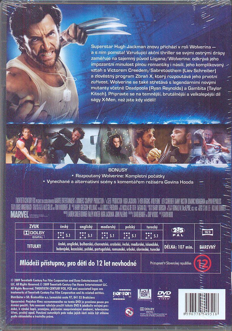 X-MEN ORIGINS: WOLVERINE [BLURAY] - suprshop.cz