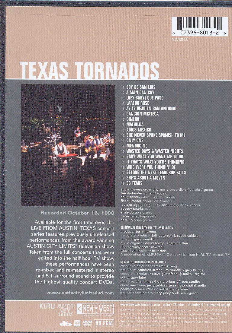 Dvd Live From Austin Tx Texas Tornados Za 21 05 Eur