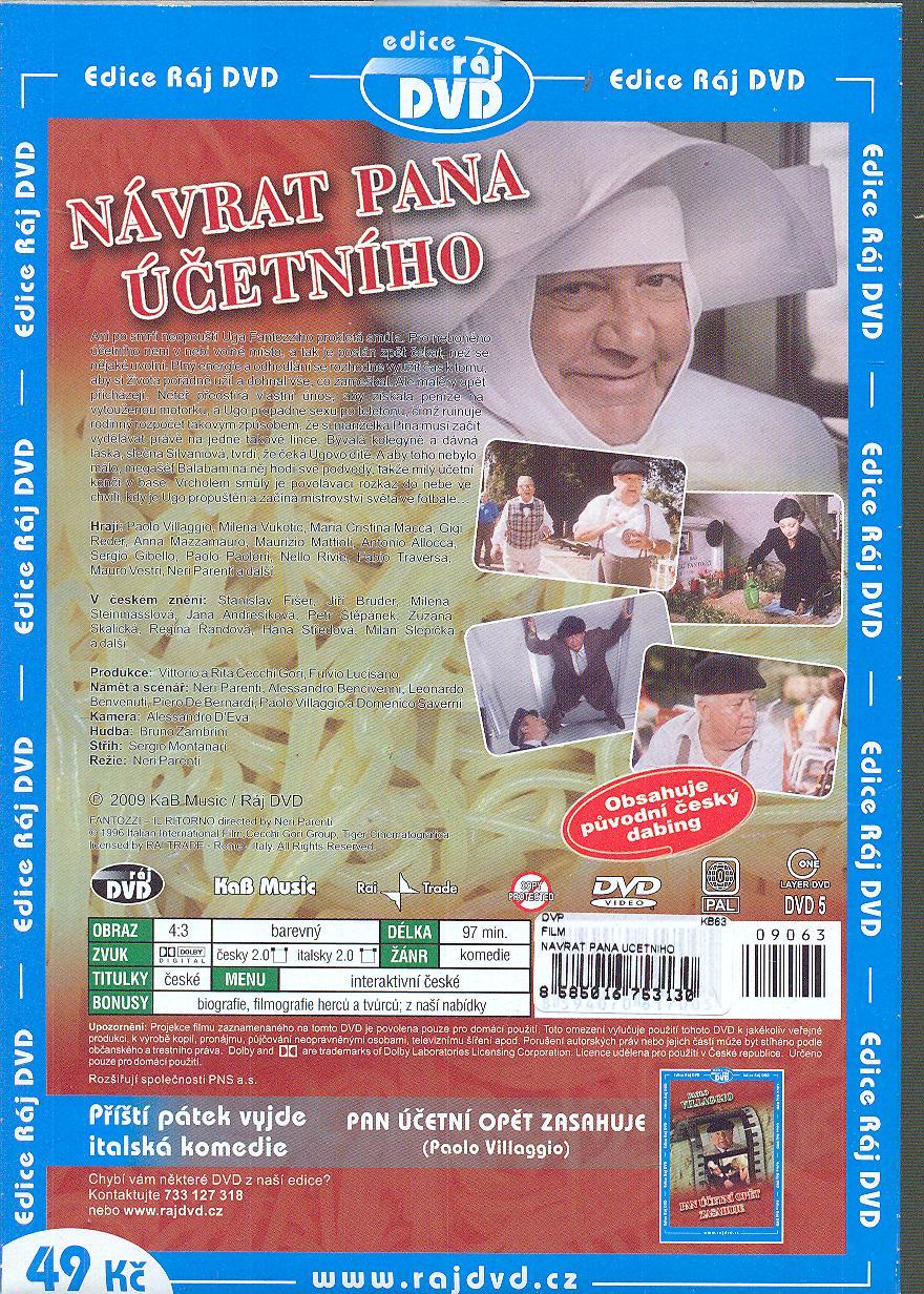 NAVRAT PANA UCETNIHO [1996] - suprshop.cz
