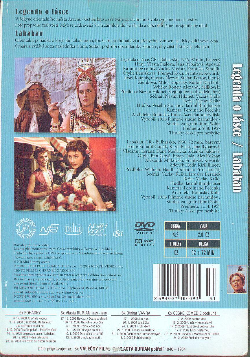 Legenda o lásce + Labakan DVD - suprshop.cz