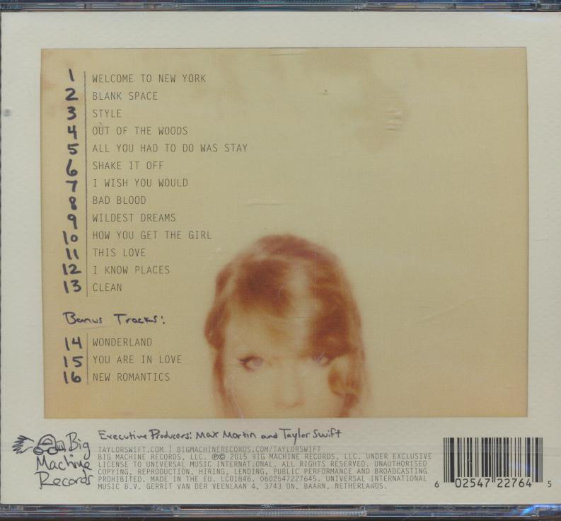 TAYLOR SWIFT KARAOKE 1989 (CD+ - supershop.sk