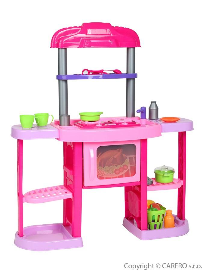 Velká dětská kuchyňka Bayo + příslušenství 32 ks Růžová  - supershop.sk
