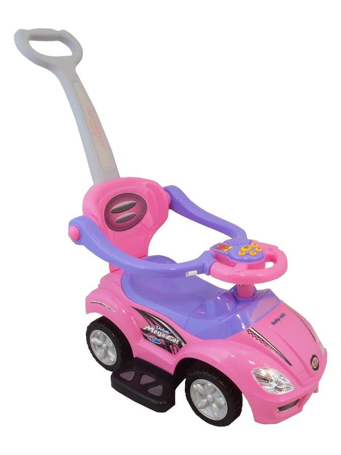 Dětské hrající jezdítko 3v1 Baby Mix pink Růžová  - supershop.sk