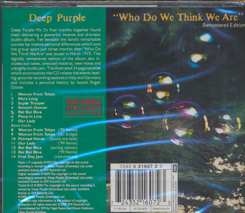 WHO DO WE THINK WE ARE [R,E] - supershop.sk