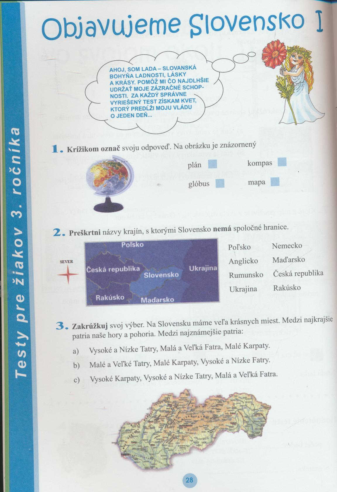 - Testy z vlastivedy pre žiakov 2. a 3. ročníka základných škô