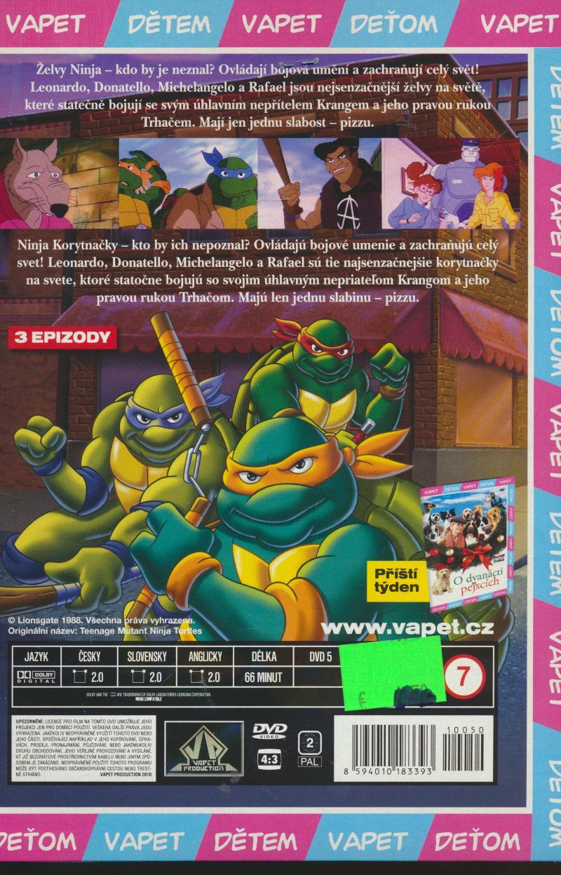 ŽELVY NINJA 4 (TEENAGE MUTANT NINJA TURTLES) DVD - supershop.sk