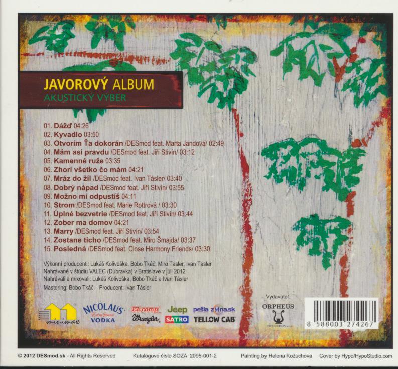 JAVOROVY ALBUM - AKUSTICKY VYBER - suprshop.cz