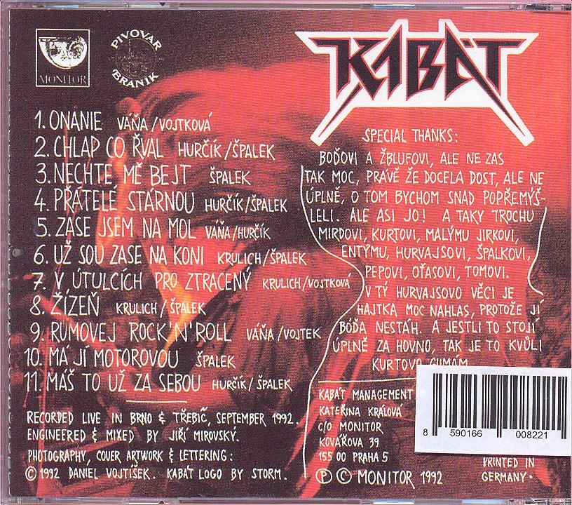 Cd Kabat - Zive ! ☆ SUPRSHOP ☆ tvůj obchod cd   dvd 34f30f4739
