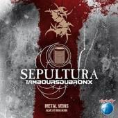 SEPULTURA WITH LES TAMBOU  - CD METAL VEINS-ALIVE AT..