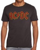AC/DC =T-SHIRT=  - TR LOGO -L- BLACK