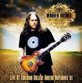 WARREN HAYNES  - CD+DVD LIVE AT EMERS..