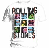 ROLLING STONES  - TRI SOME GIRLS GRID/UNISEX/WHITE/SMALL