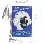 ROLLING STONES  - TRI BLACK AND BLUE/UNISEX/WHITE/SMALL