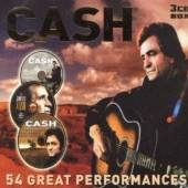 CASH JOHNNY  - 3xCD 54 GREAT PERFORMANCES