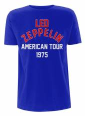 LED ZEPPELIN =T-SHIRT=  - TR NORTH AMERICAN TOUR -L- /BLUE