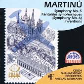 CESKA FILHARMONIE/NEUMANN VACL  - CD MARTINU : SYMFONIE C. 5, 6, INVENCE