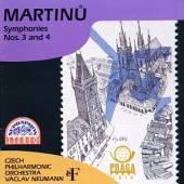 CESKA FILHARMONIE/NEUMANN VACL  - CD MARTINU : SYMFONIE C. 3, 4