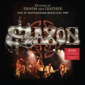 SAXON  - 2xCD 10 YEARS OF DENIM AND LEATHER-LIVE