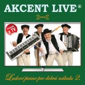 AKCENT LIVE  - CD LUDOVE PIESNE PRE DOBRU NALADU 2