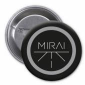 MIRAI = =BADGE=  - BD PLACKA MIRAI - BLACK