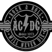 AC/DC  - PTCH ROCK N ROLL WILL NEVER DIE CUT-OUT