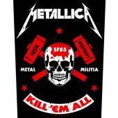 METALLICA  - PTCH METAL MILITIA (BACKPATCH)