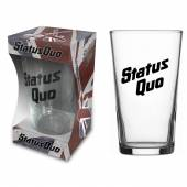 STATUS QUO  - PINT LOGO (BEER GLASS)