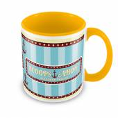 STRANGER THINGS =MUG=  - HRN SCOOPS AHOY (YELLOW COLOURED INNER)