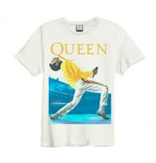 QUEEN =T-SHIRT=  - TR FREDDIE TRIANGLE.. -S-