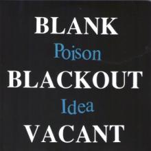 POISON IDEA  - 2xVINYL BLANK...BLAC..