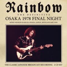 RAINBOW  - CD+DVD OSAKA 1978 (2CD)