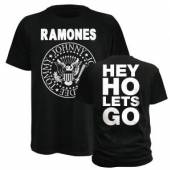 RAMONES  - TRI RAMONES HEY HO/UNISEX/BLACK/SMALL