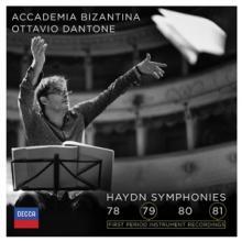 CD  Dantone Ottavio & Academia Bizantina Haydn symphonies 78-81